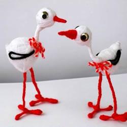 儿童白鹭玩偶手工制作 只需要准备毛线和铁丝