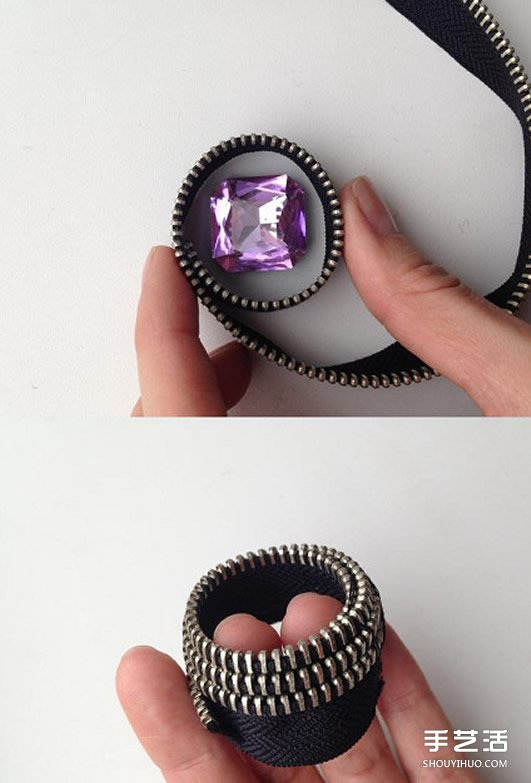 不織布假領子項鏈製作 手工布藝假領子項鏈DIY