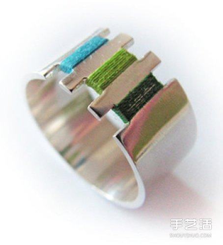 手工绕线金属戒指图片 仿佛是刺绣上去一样! -  www.shouyihuo.com