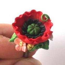 软陶花戒指DIY制作教程 软陶做花朵戒指的方法