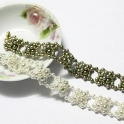新娘串珠珍珠手链DIY 新娘珍珠手链制作图