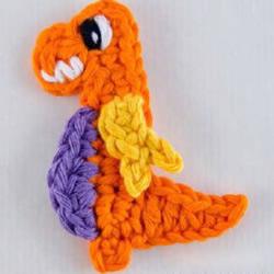 钩针恐龙编织花样图解 可爱恐龙的织法用