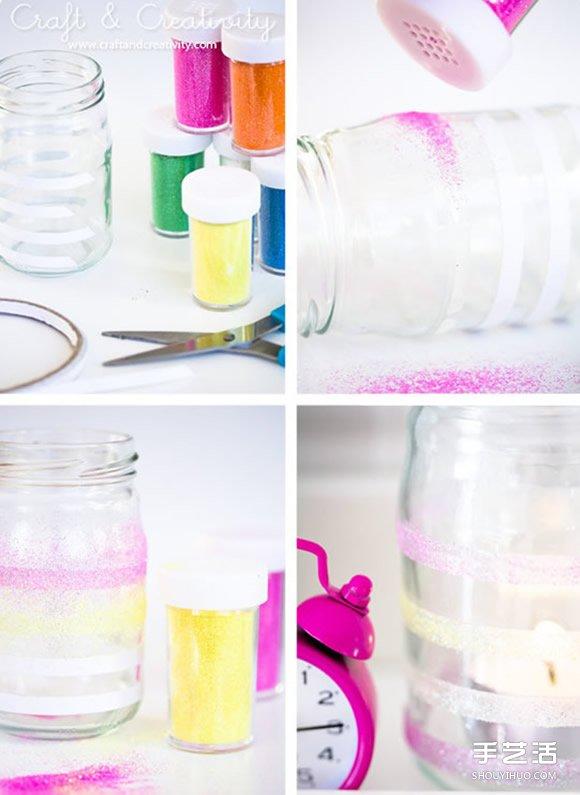 玻璃瓶廢物利用小手工 把玻璃瓶打扮好看!