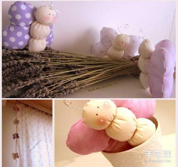 不織布蝴蝶寶寶製作 可愛布藝玩具蝴蝶寶寶DIY