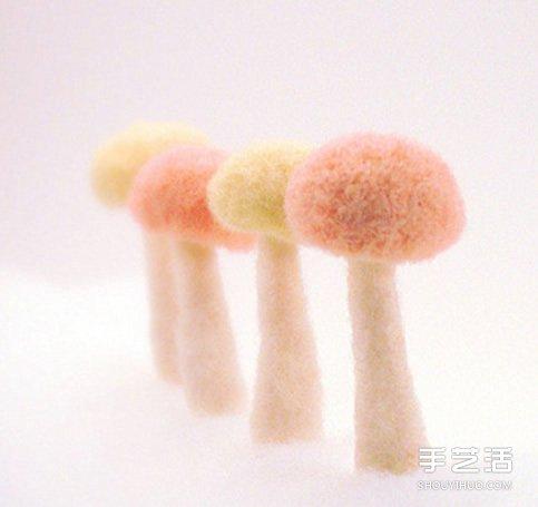 美好的羊毛氈蘑菇作品圖片 讓你的心靈凈化