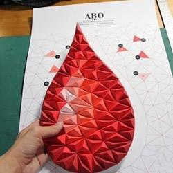 剪纸制作水滴图案立体装饰画的方法步骤图解
