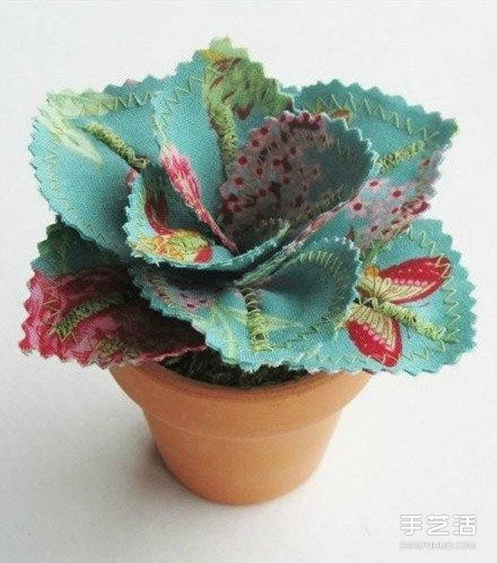 純手工製作的漂亮布花圖片 漂亮而又易打理