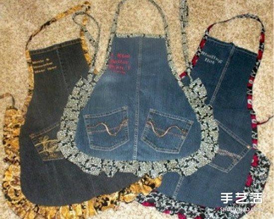 牛仔褲改造圖片 廢舊牛仔褲的妙用手工製作