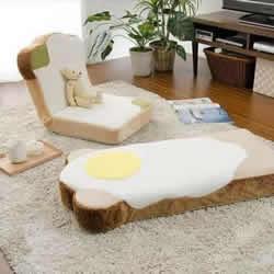 吐司和室椅和荷包蛋盖毯 创意无极限的设