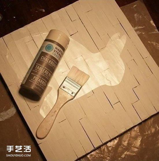 雪糕棍装饰画DIY图解 简单装饰画用冰棒棍做 -www.shouyihuo.com