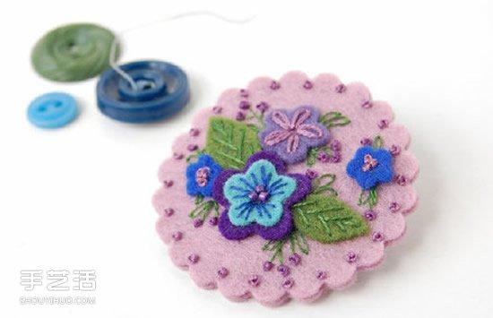 溫暖清新風格的手工不織布小飾品圖片欣賞
