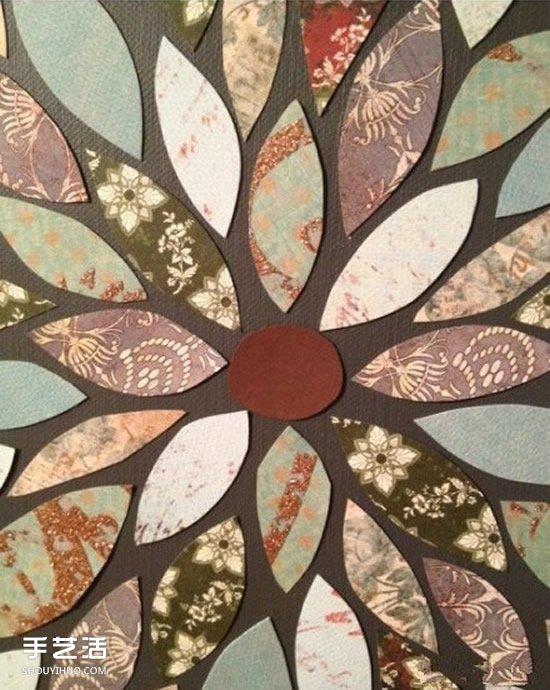 简单又漂亮手工剪纸装饰画的做法图解教程 -www.shouyihuo.com