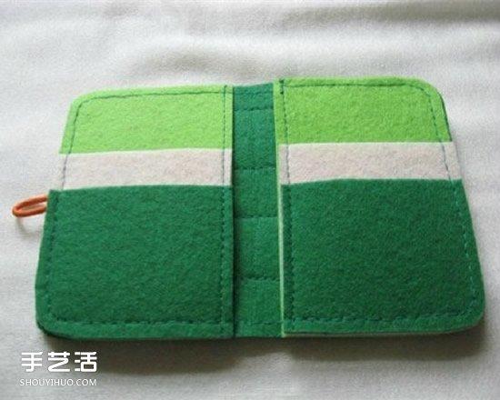不织布卡包的做法图解 手工布艺制作卡包教程 -  www.shouyihuo.com