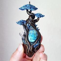 妖精的宝藏!用粘土与自然元素DIY魔幻珠宝