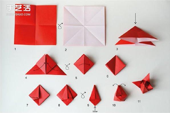 手工百合花折纸方法有几种