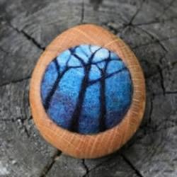 迷你羊毛毡风景画图片 仿佛内藏另一个世界