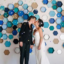 自制艺术效果的背景墙 简单浪漫背景墙DIY方法