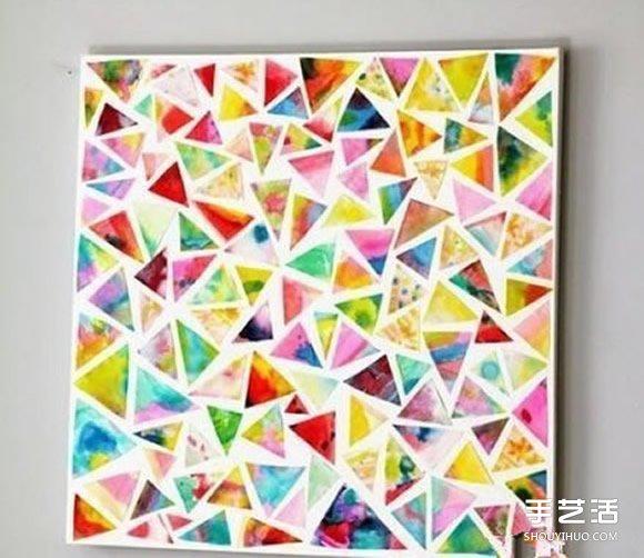剪纸拼贴装饰画小制作 小朋友也可以轻松完成 -www.shouyihuo.com