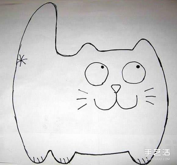 不織布貓咪掛件製作 簡單布藝貓咪掛飾DIY圖紙