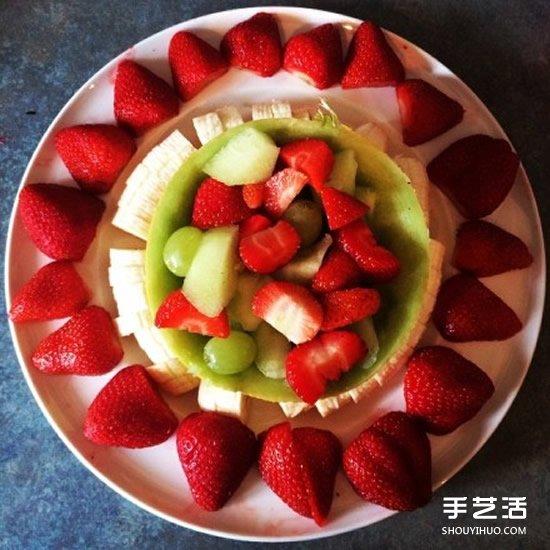 简单随意的水果拼盘图片 让人口水直流的大餐