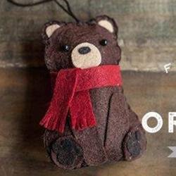 皮革小熊挂件DIY制作 可爱皮制小熊挂饰做