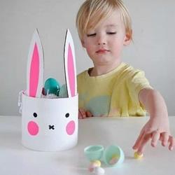 幼儿小兔收纳罐的做法 简单兔子收纳罐