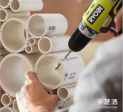 漂亮房門裝飾用PVC管做 PVC管製作掛飾的方法