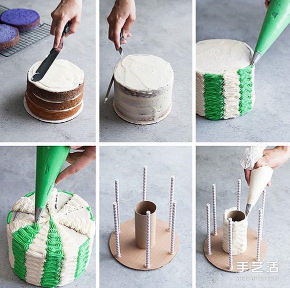 创意蛋糕DIY:旋转木马蛋糕的做法图解教程