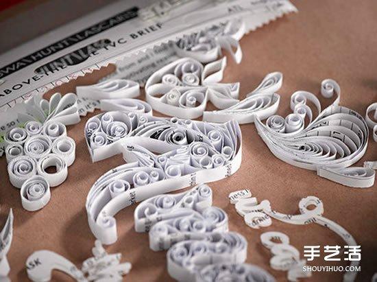 精美纸雕画作品图片 创作出翻倒的伏特加酒瓶 -  www.shouyihuo.com