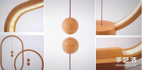 Heng 木球磁吸桌燈 重新思考電燈開關的型態
