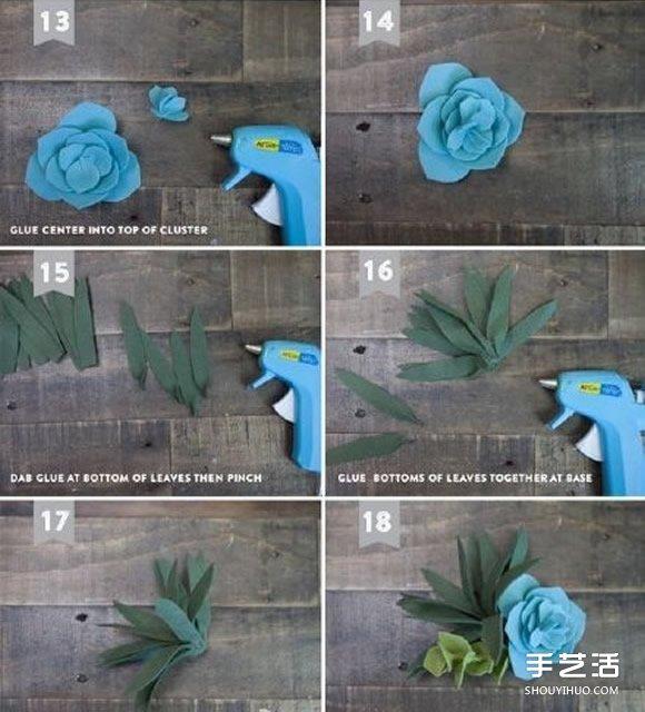 毛毡布做多肉植物的方法 多肉饰品布艺手工制作