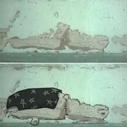 斑驳墙面的春天 岁月感成作品最独特的色
