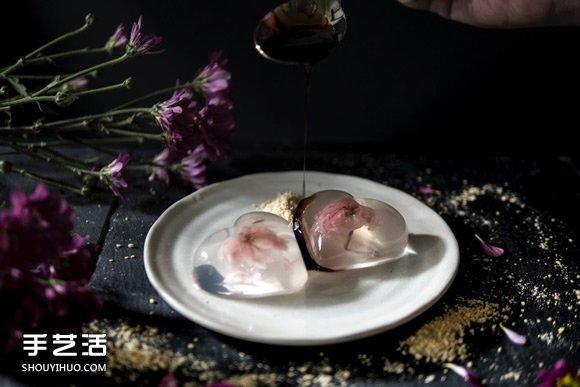 午后的日式浪漫 樱花水信玄饼的做法教程