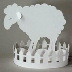 幼儿剪纸羊步骤教程 简单立体绵羊剪纸展