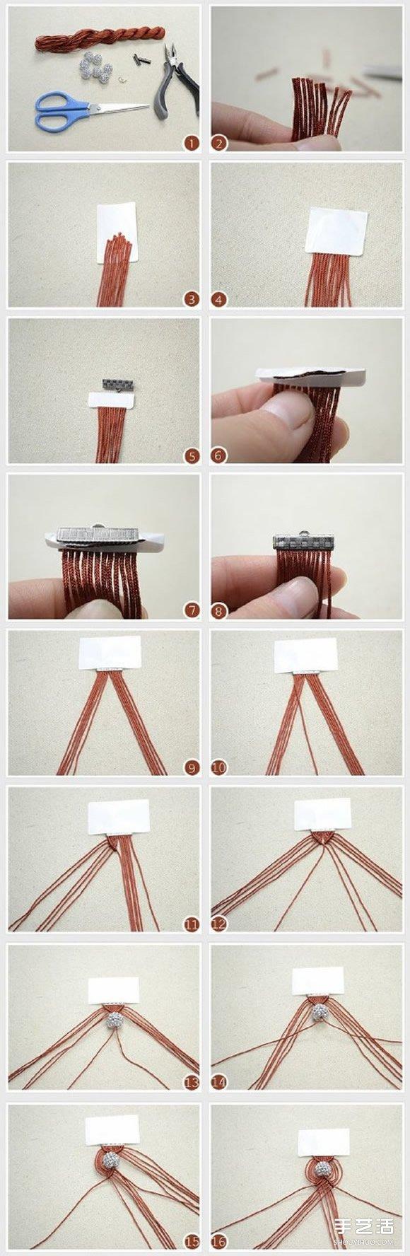 古風手鐲的編織方法 手工編古典手鐲的編法