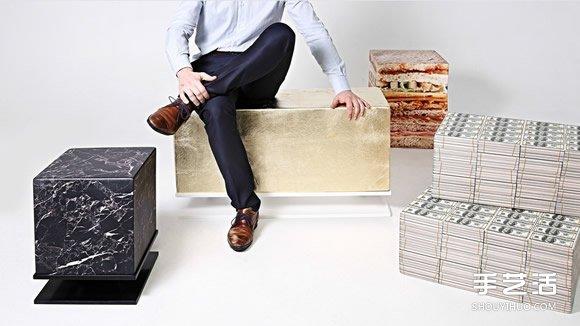 趣味泡棉椅設計 能將喜歡的圖樣印製在上面