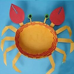 儿童螃蟹手工制作图片 简单可爱小螃蟹制