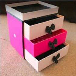 多余纸盒废物利用 DIY手工制作带抽屉收纳
