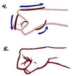 挥出的拳头素描画法 铅笔素描拳头图解教程