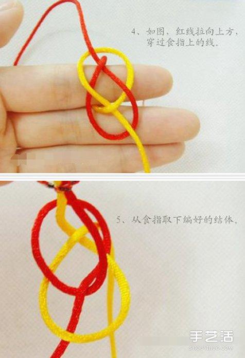兩色戒指的編法圖解 簡單兩股繩編戒指的方法
