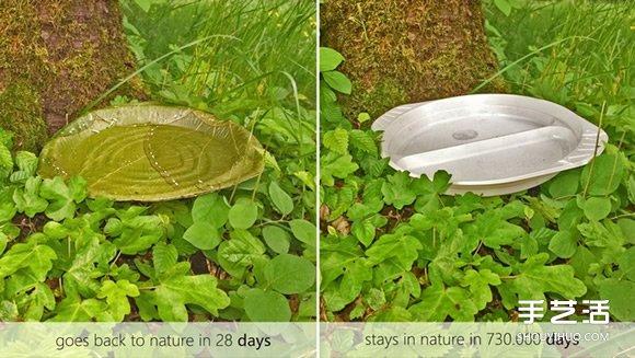 真正做到自然分解 28天回歸土地的樹葉餐盤設計