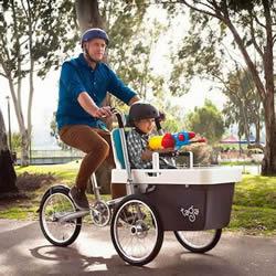 改良后的多功能家庭单车Taga2.0 便利又安全!