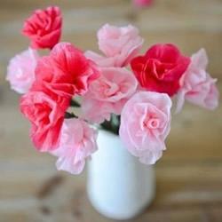 皱纹纸花朵做法图解 手工皱纹纸花制作教程