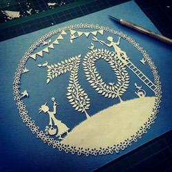 美腻的平面纸雕作品图片 有耐心就来做做看