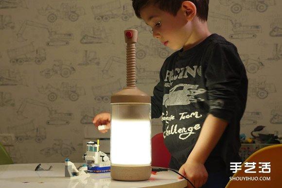 """把光""""压""""出来!像法式滤压壶的 DiMo 桌灯 -  www.shouyihuo.com"""
