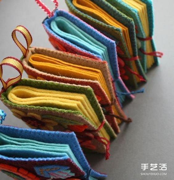 漂亮的不織布本子圖片 手工布藝本子作品欣賞