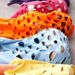 旧T恤改造网眼袋的方法 DIY网眼袋制作教程