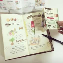 马来西亚女生做的旅行手账日记本 很有爱!