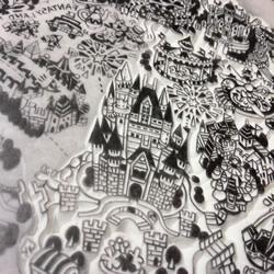 将东京迪士尼整个园区直接缩小成细致橡皮章
