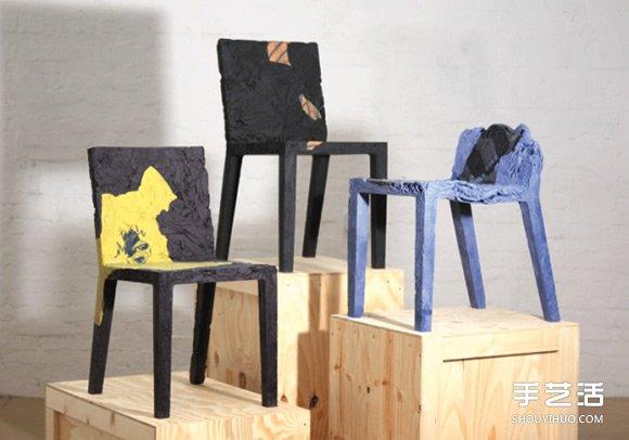 利用舊衣服製作椅子 用淘汰衣服做的椅子圖片